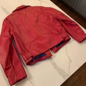 Veda Jackets & Coats - Veda Red Grand Leather Jacket